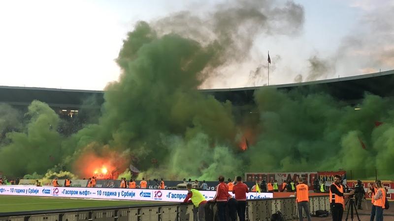 Delije Dimovi 160 veciti derbi Crvena zvezda Partizan 2 1