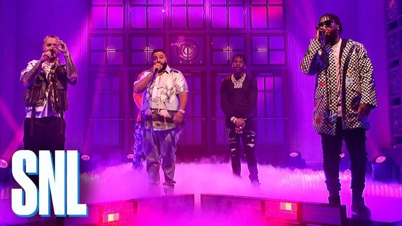[NW] DJ Khaled Feat. Big Sean, Lil Wayne, Meek Mill, Jeremih, J Balvin, Lil Baby Performs At SNL[2019]