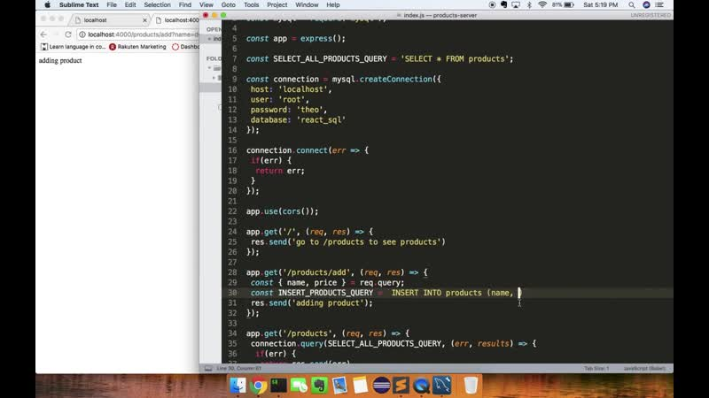 [Theodore Anderson] React NodeJS SQL Simple Full Stack Application 2019