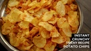 Potato Chips Recipe Crunchy Instant Hot Wafers Aloo Lays CookingShooking