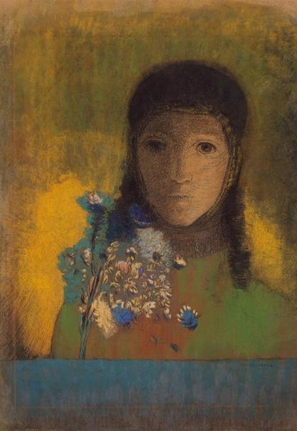 « одного шедевра». «Женщина с полевыми цветами», Одилон Редон