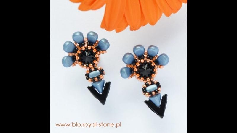 Beads Серьги-гвоздики от Royal-Stone Ссылка в описании