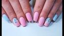 Pink and blue pastel ombre NeoNail Jak zrobić poziome ombre gąbeczką na hybrydach