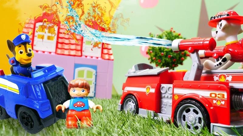 Paw Patrol çizgi film oyuncakları. Kurtarma ekibi yangında