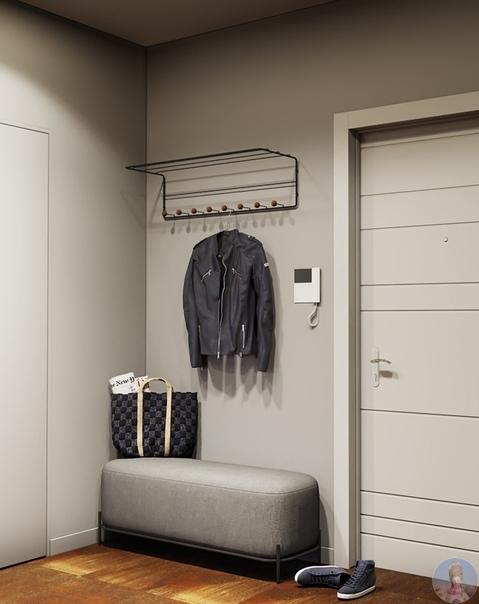 Проект стильной и уютной квартиры 46 кв.м. для молодого человека из Калуги.
