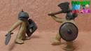Fierce battle Play Doh Stop motion movie