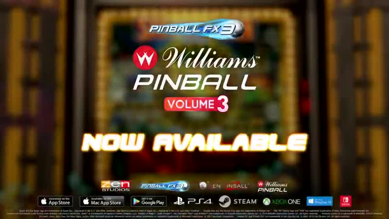 Дополнение Williams Pinball Volume 3 для игры Pinball FX3!