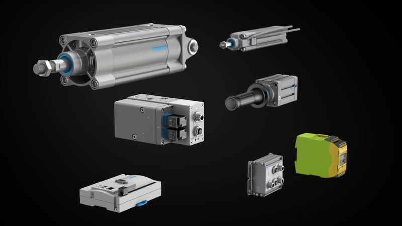Components of servo pneumatic drive solution YHBP for balancers of all kinds