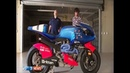 Guy Martin rides the Britten at Manfield