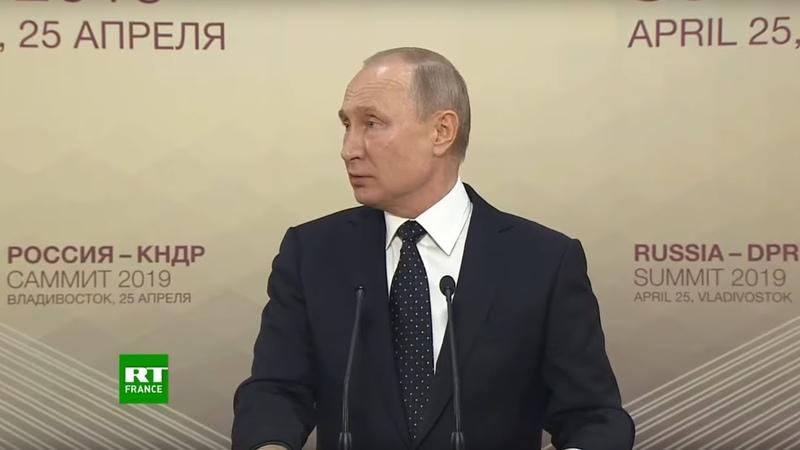 Point-presse avec Vladimir Poutine après ses pourparlers avec Kim Jong-un