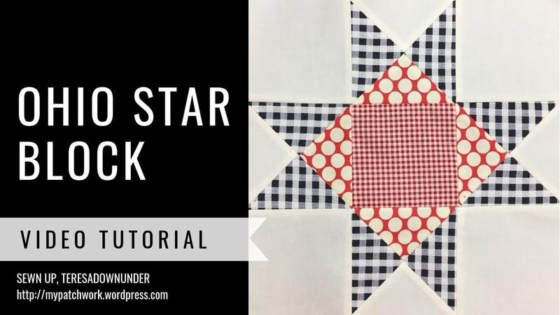 Ohio star quilt block video tutorial