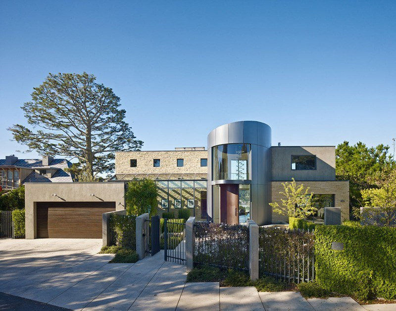 Entry Tower and Sweeping Views Over San Francisco Bay Defining The Belvedere Residence