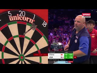China vs United States (PDC World Cup of Darts 2019 / Round 1)