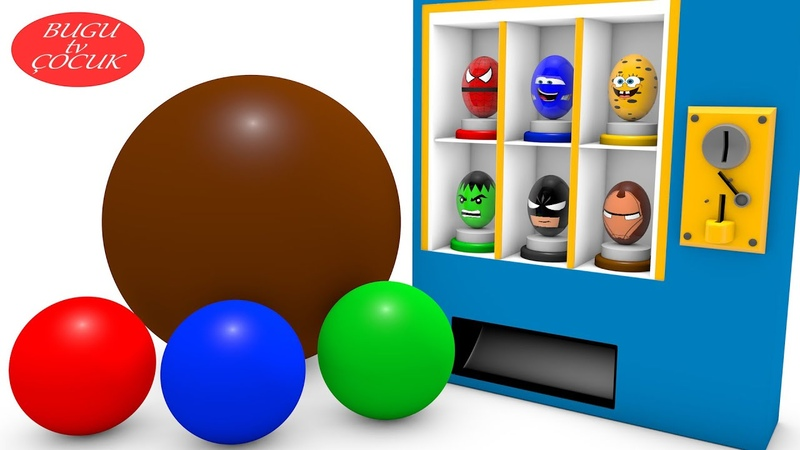 Sürpriz Yumurta Oyuncak Makinesi ile Çocuklar için Renkleri Öğrenin