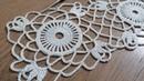 Tığişi örgü dantel motifi yapımı vitrin danteli masa örtüsü runner