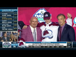 Colorado Avalanche select Bowen Byram 4th overall in 2019 NHL Draft | June 21, 2019