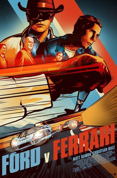 Официальные арт-постеры «Ford против Ferrari»