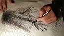 A3 ballpoint pen drawing