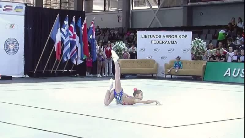 2nd International Aerobic Gymnastics Competition Lithuanian Open CHAMPIONSHIP 2019. ND2 IW. Eva Grablevska