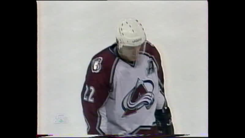 НХЛ Регулярный чемпионат 1997 98 Колорадо Эвеланш Анахайм Майти Дакс 2 и 3 периоды 12 01 1998