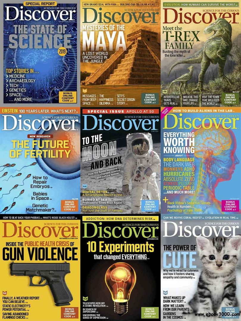 Discover Magazine - 2019 Full Year Collection