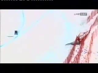 Элизабет Гергль. Кубок мира 2006/2007. Ленцерхайде. Скоростной спуск.