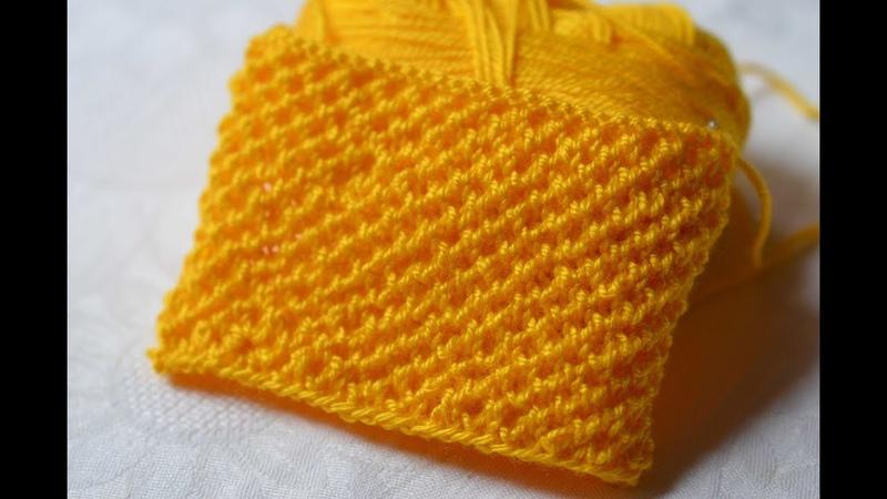 Knitting pattern . Вязание. Мелкий фоновый узор спицами. НЕ соты