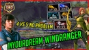 WTF 4 vs 5 Inyourdream Windranger Carry The Game