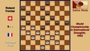 Georges Post FRA Roland Forclaz SUI Draughts World Championship 1952