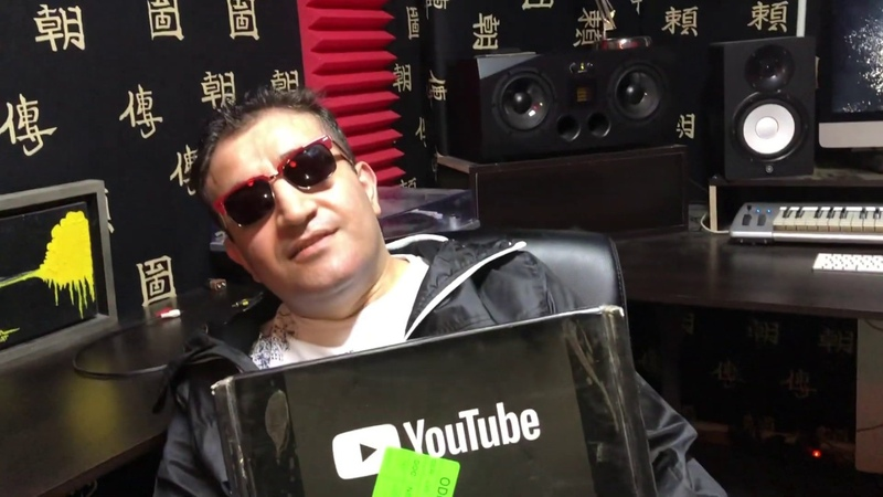 Серебряная кнопка YouTube Dj Artush Silver YouTube button