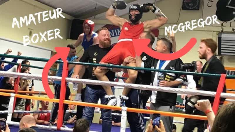 Конор МакГрегор провёл любительский бой по боксу в Дублине ( Crumlin Boxing Club).