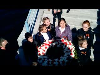 Венок Славы в память о погибших моряках. Крепость Орешек. Шлиссельбург. Нева. 9 мая 2019 года.