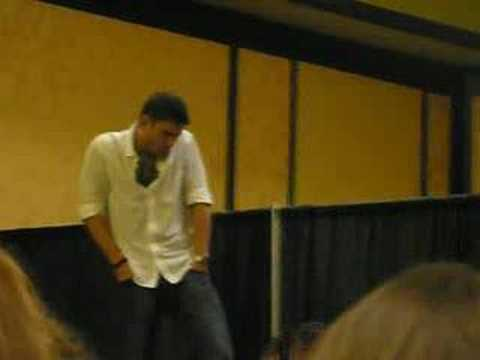 Jensen and Jared in LA Jensen being Sam! Jared in a play
