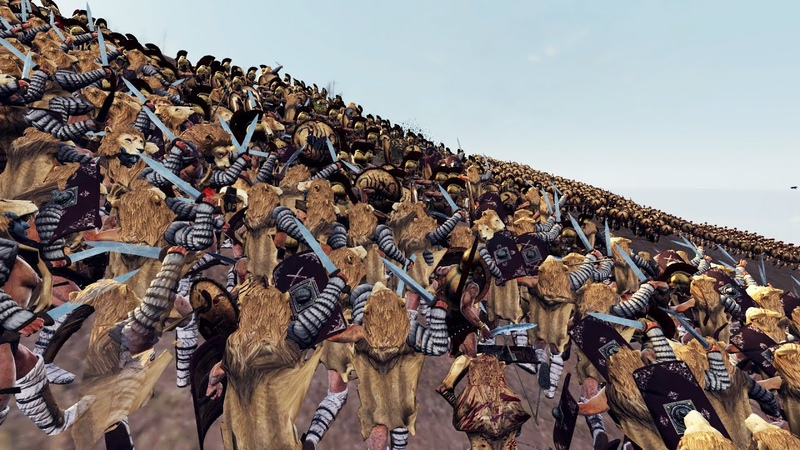 300 SPARTA VS 7000 RURDIARUS - MASSIVE BATTLE TOTAL WAR ROME 2