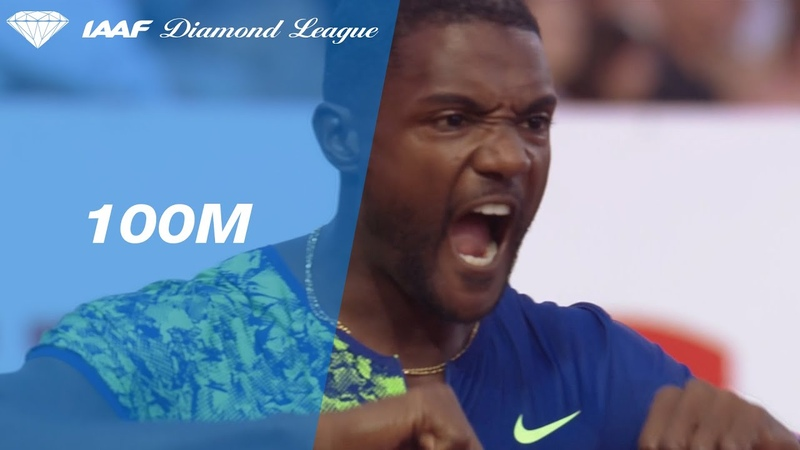 37-year old Justin Gatlin powers to win over 100m in Lausanne - IAAF Diamond League 2019