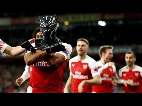 2 P E Aubameyang 2 Goals Black Panther mask