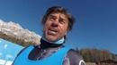 Kristian Ghedina testa la Vertigine nuova pista nera di Cortina
