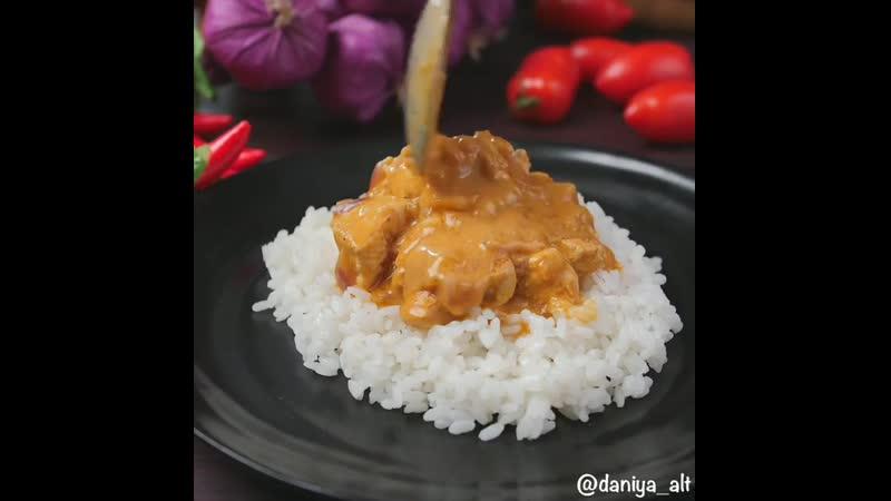 Куриное филе в соусе карри