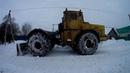 Т-40 АМ и К-700 А Кировец Чистка снега то что упало с крыши