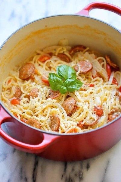 Готовим супер-спагетти на ужин!