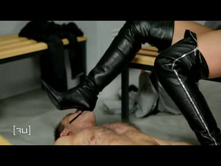 Femdom sex boots domination
