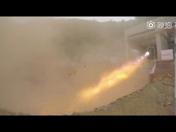 В Китае прошли испытания ислородно метанового ракетного двигателя TQ 12 весом 80 тонн