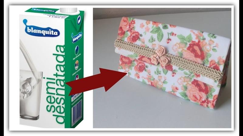 DIY - Reciclado de caja de leche - Manualidades - Reciclaje