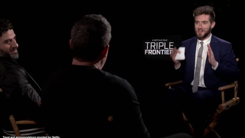 Triple Frontier Netflix interviews - Ben Affleck, Oscar Isaac, Charlie Hunnam, Hedlund, Chandor