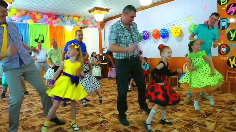 Танец пап и дочерей я люблю Буги Вуги 💃🕺 Стиляги на утреннике в детском саду