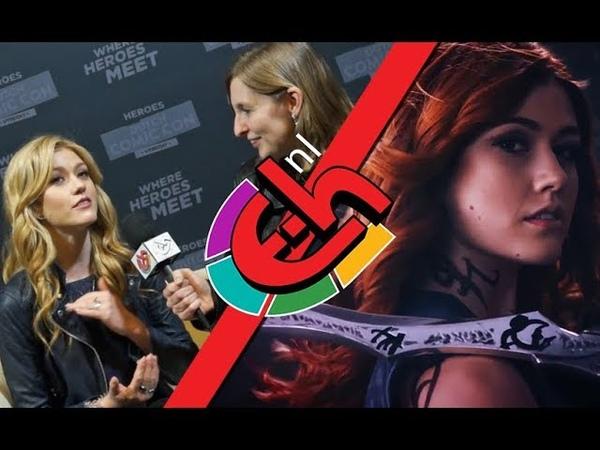 23.03.19| Кэтрин дала интервью в рамках голландского комик-кона