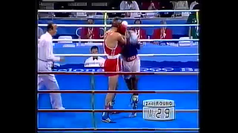 Бокс Хуан Карлос Лемус-Игорь Шаплавский Олимпиада 1992 -71 кг 1_4