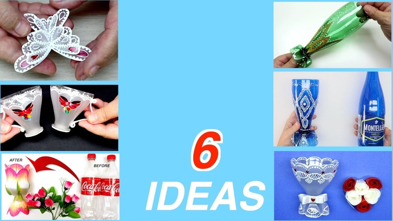6 Wonderful Ideas from Plastic Bottles handcraft diy