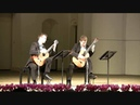 Duo Cologne plays Bach English Suite II, BWV 807 - V. Bourree I II
