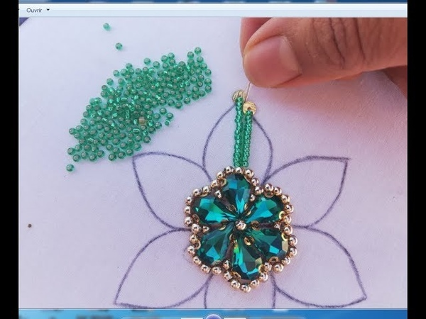 Hand Embroidery embroidery flower beads work for dress